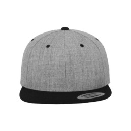 Flexfit Snapback besticken lassen heather und black
