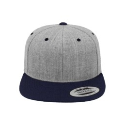 Flexfit Snapback besticken lassen heather und navy